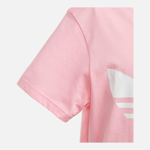 Alternate view of Girls' adidas Originals Trefoil T-Shirt in Pink/White