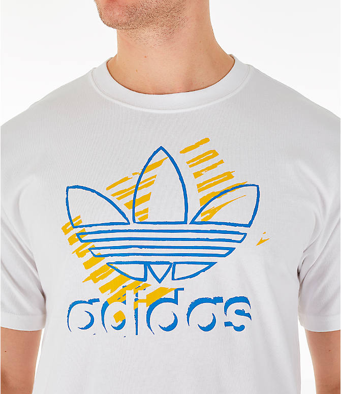 Detail 1 view of Men's adidas Originals Trefoil Sketch T-Shirt