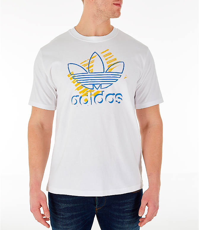 Front view of Men's adidas Originals Trefoil Sketch T-Shirt