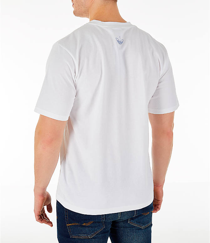 Back Left view of Men's adidas Originals Trefoil Sketch T-Shirt