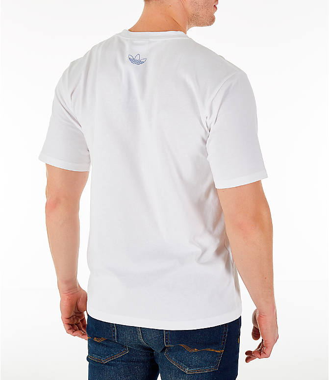 Back Right view of Men's adidas Originals Trefoil Sketch T-Shirt
