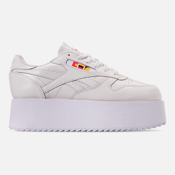 cb29f348c9ba Right view of Women s Reebok x Gigi Hadid Classic Leather Triple Platform  Casual Shoes in White