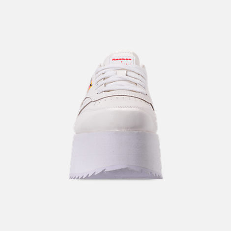 0a1ae7ed9258 Front view of Women s Reebok x Gigi Hadid Classic Leather Triple Platform  Casual Shoes in White
