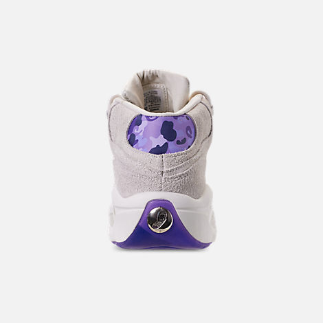 Back view of Men's Reebok Question Mid Basketball Shoes