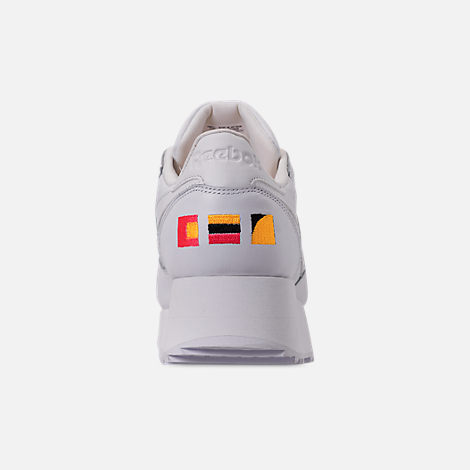 b8a06d3f8a93 Back view of Women s Reebok x Gigi Hadid Classic Leather Double Casual Shoes  in White