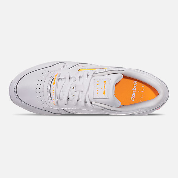 Top view of Women s Reebok x Gigi Hadid Classic Leather Double Casual Shoes  in White  3d65e4c0c