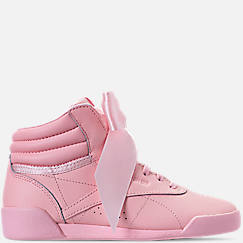 Girls' Little Kids' Reebok Freestyle Hi Satin Bow Casual Shoes