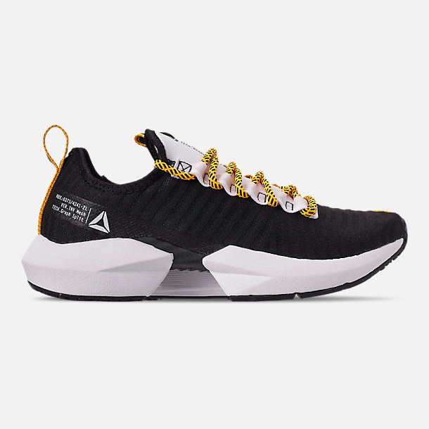 Right view of Men's Reebok Sole Fury SE Casual Shoes in Black/White/Yellow