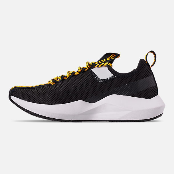 Left view of Men's Reebok Sole Fury SE Casual Shoes in Black/White/Yellow