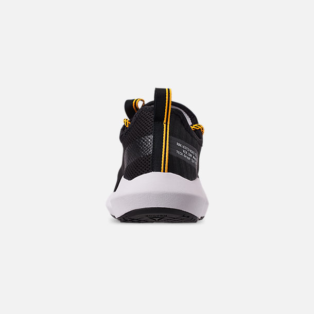 Back view of Men's Reebok Sole Fury SE Casual Shoes in Black/White/Yellow