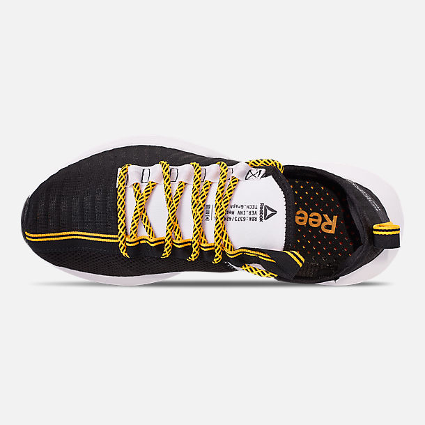 Top view of Men's Reebok Sole Fury SE Casual Shoes in Black/White/Yellow