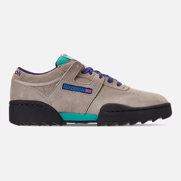 46e0fc4228c Right view of Men s Reebok Workout Ripple OG Casual Shoes in  Parchment Spearmint Team