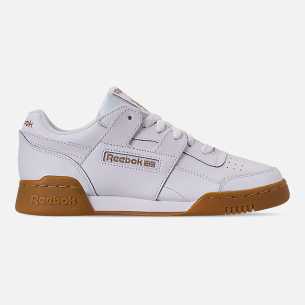 Right view of Women's Reebok Workout Casual Shoes in White/Rose Gold