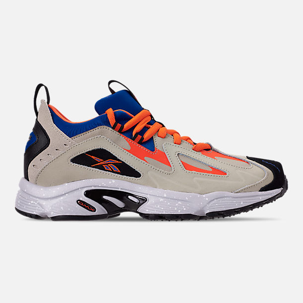 Right view of Men's Reebok DMX 1200 Casual Shoes in Parchment/Royal/Grey/Lava/White