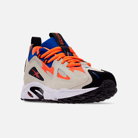 Three Quarter view of Men's Reebok DMX 1200 Casual Shoes in Parchment/Royal/Grey/Lava/White