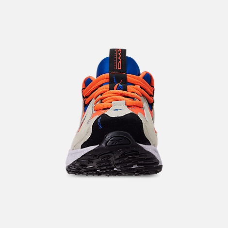 Front view of Men's Reebok DMX 1200 Casual Shoes in Parchment/Royal/Grey/Lava/White