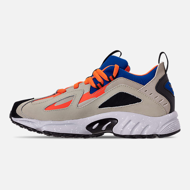 Left view of Men's Reebok DMX 1200 Casual Shoes in Parchment/Royal/Grey/Lava/White