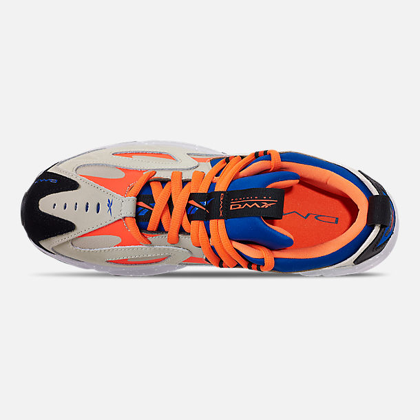 Top view of Men's Reebok DMX 1200 Casual Shoes in Parchment/Royal/Grey/Lava/White