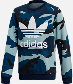 Boys' adidas Camo Trefoil Crewneck Sweatshirt