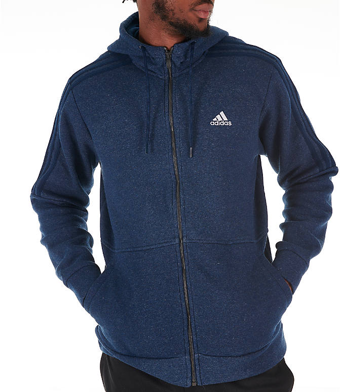 Detail 2 view of Men's adidas Essentials Linear Full-Zip Hoodie in Navy
