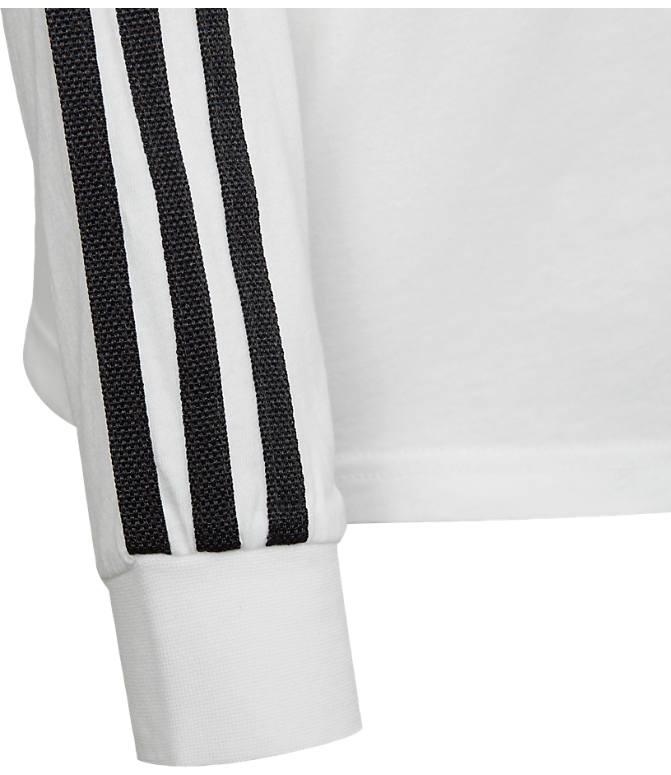 b69423402bc Back view of Kids' adidas Originals 3-Stripe Long Sleeve T-Shirt in