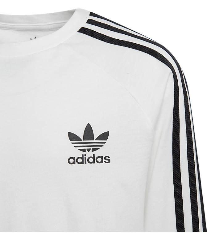 fa6b32dad8f Product 3 view of Kids' adidas Originals 3-Stripe Long Sleeve T-Shirt