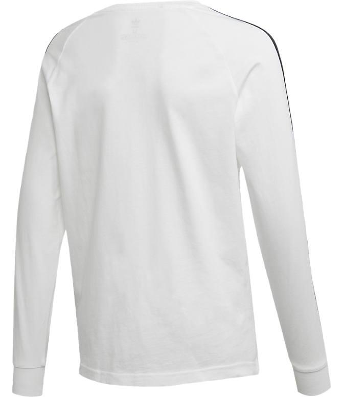 6bac11c028b Product 4 view of Kids' adidas Originals 3-Stripe Long Sleeve T-Shirt