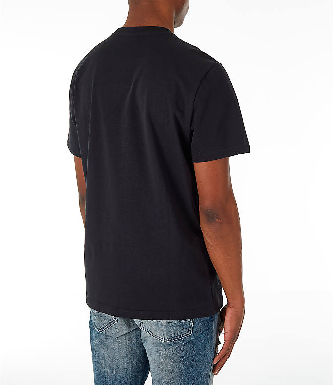 Back Right view of Men's Reebok Classics Vector T-Shirt in Black