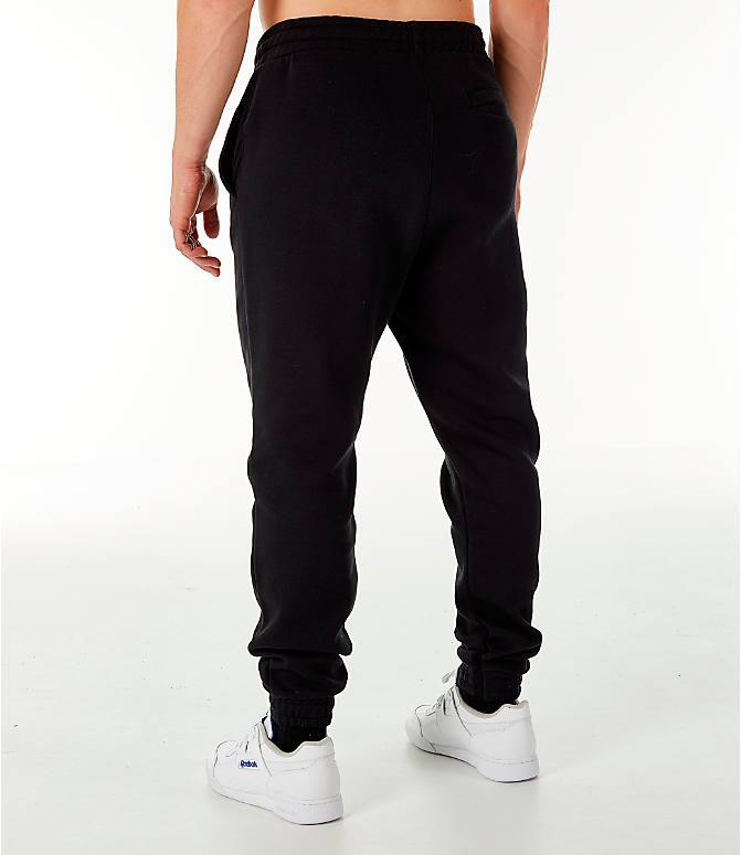 Back Left view of Men's Reebok Classic Vector Jogger Pants in Black