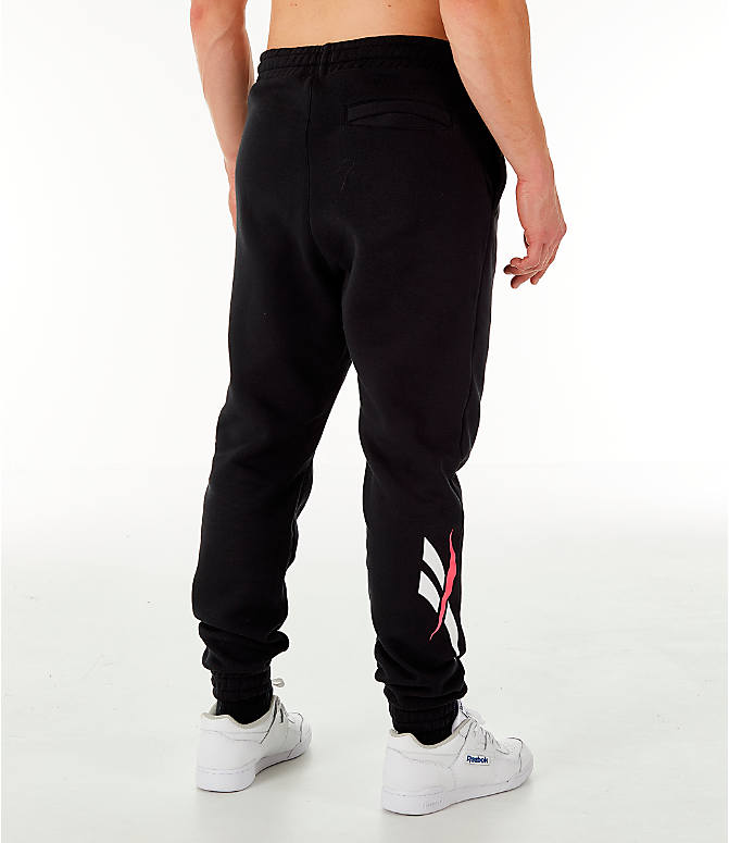 Back Right view of Men's Reebok Classic Vector Jogger Pants in Black