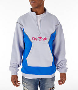 Unisex Reebok Classics Colorblock Half-Zip Cover-Up Sweatshirt