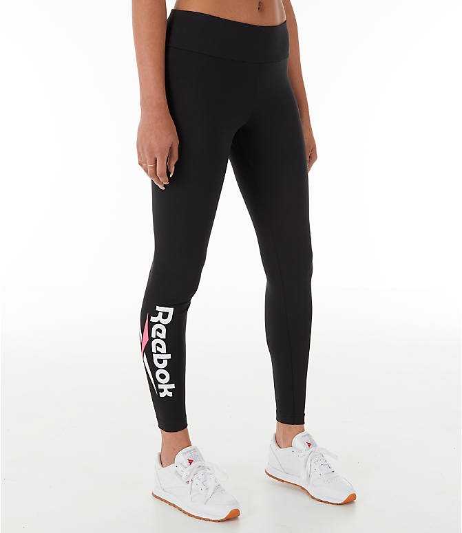 Front view of Women's Reebok Classics Franchise Leggings in Black