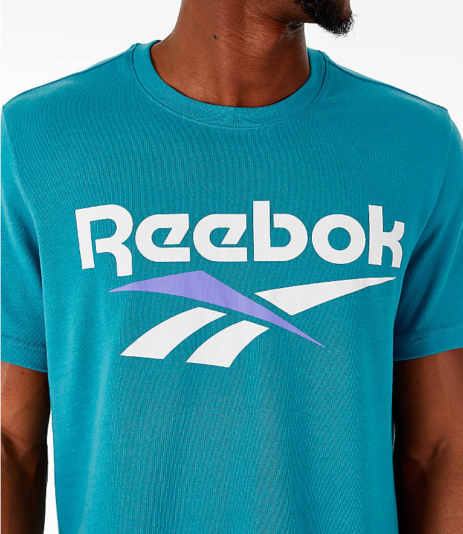 Detail 1 view of Men's Reebok Classics Vector T-Shirt in Turquoise