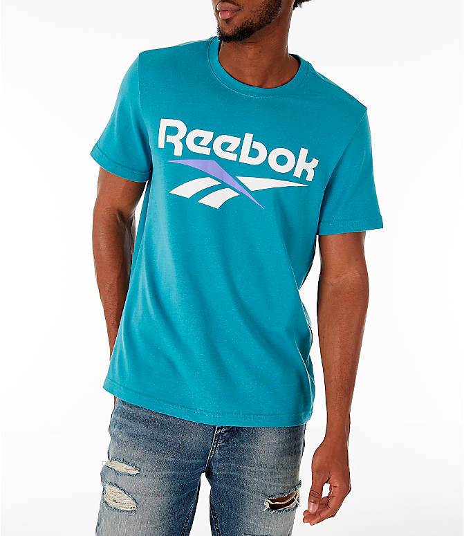 Detail 2 view of Men's Reebok Classics Vector T-Shirt in Turquoise