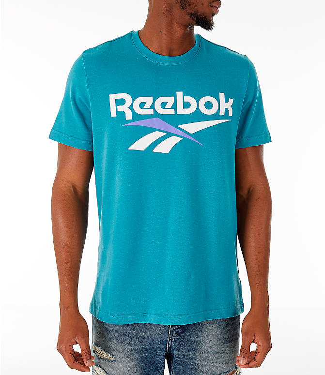 Front view of Men's Reebok Classics Vector T-Shirt in Turquoise