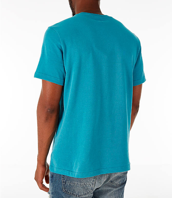 Back Left view of Men's Reebok Classics Vector T-Shirt in Turquoise