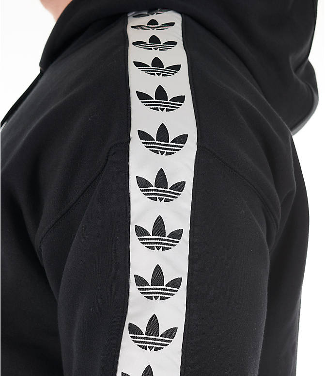 Detail 2 view of Men's adidas Originals Trefoil Tape Pullover Hoodie in Black/White