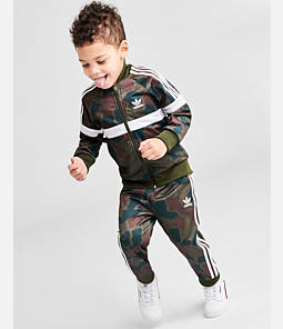 Kids' Toddler and Infant adidas Originals Full-Zip Track Suit
