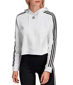 Women's adidas Oroiginals Striped Cropped Hoodie