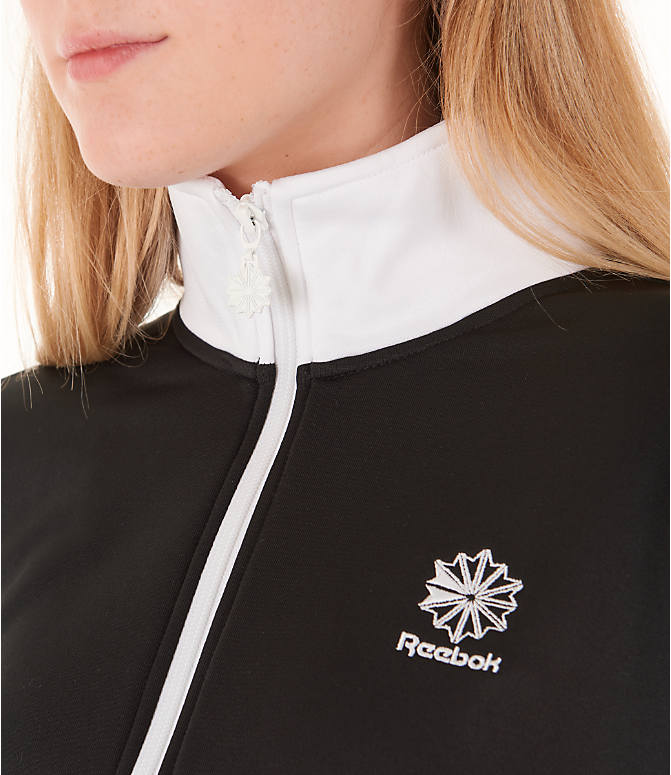 Detail 1 view of Women's Reebok Classics R Track Jacket in Black/White