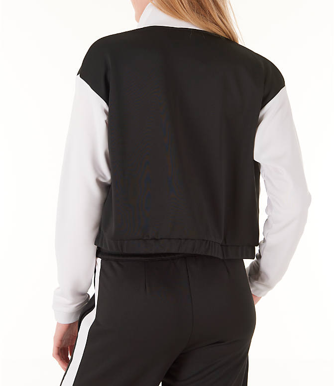 Back Left view of Women's Reebok Classics R Track Jacket in Black/White