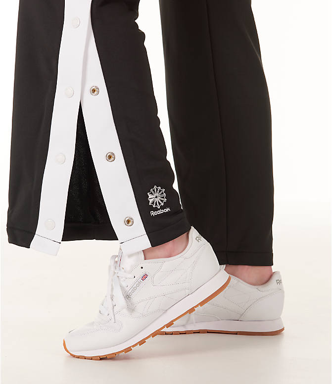 Detail 2 view of Women's Reebok Classics R Snap Track Pants in Black/White