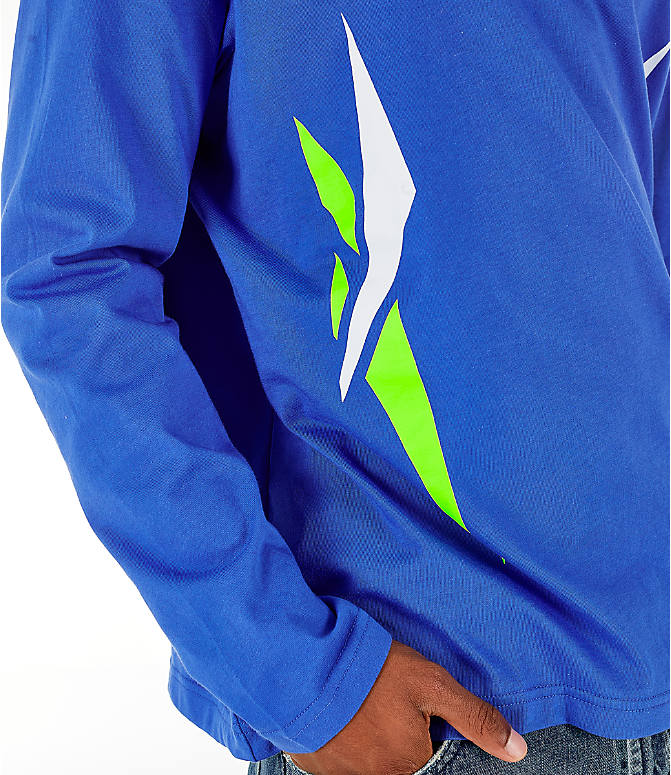 Detail 2 view of Men's Reebok Classics Vector Long Sleeve T-Shirt in Crushed Cobalt