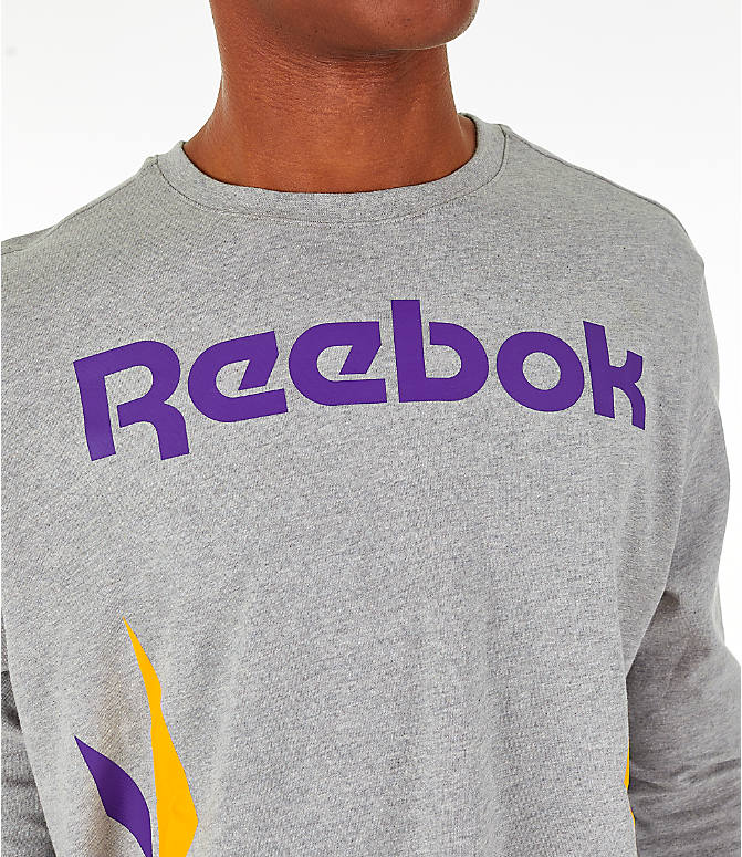 Detail 1 view of Men's Reebok Classics Vector Long Sleeve T-Shirt in Medium Heather Grey