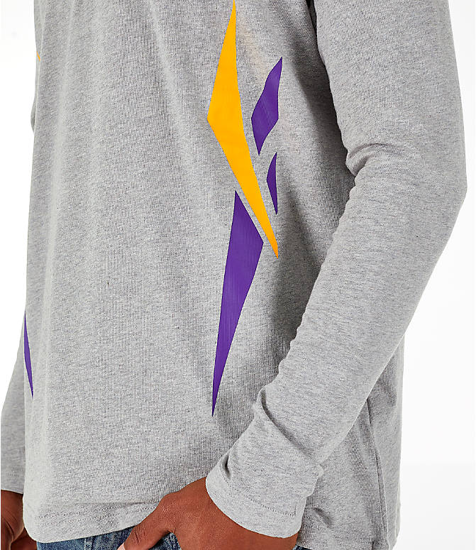 Detail 2 view of Men's Reebok Classics Vector Long Sleeve T-Shirt in Medium Heather Grey