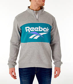 Men's Reebok Classics Colorblock Vector Quarter-Zip Sweatshirt