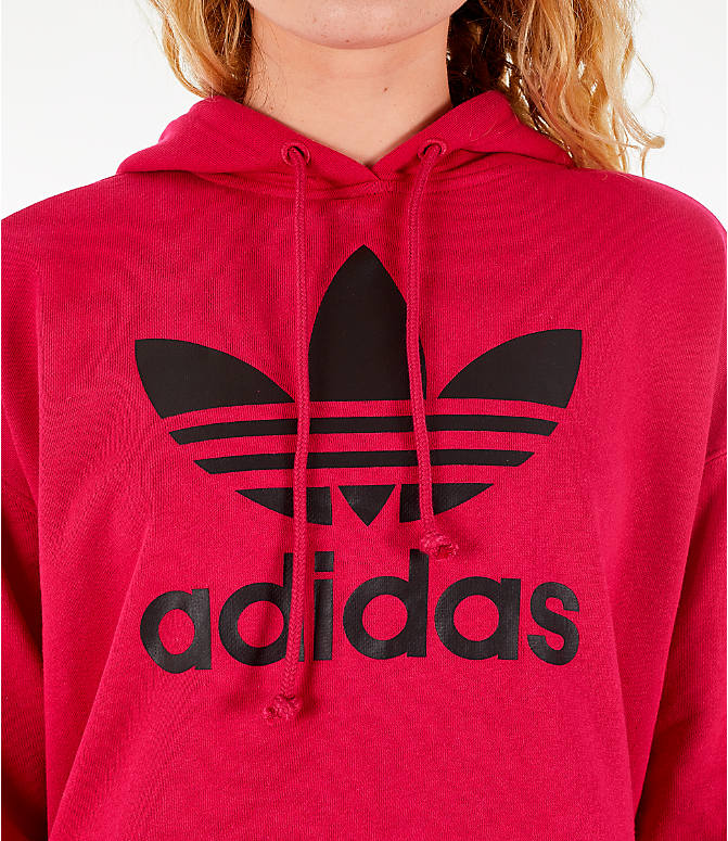 Detail 1 view of Women's adidas Originals Leoflage Crop Hoodie