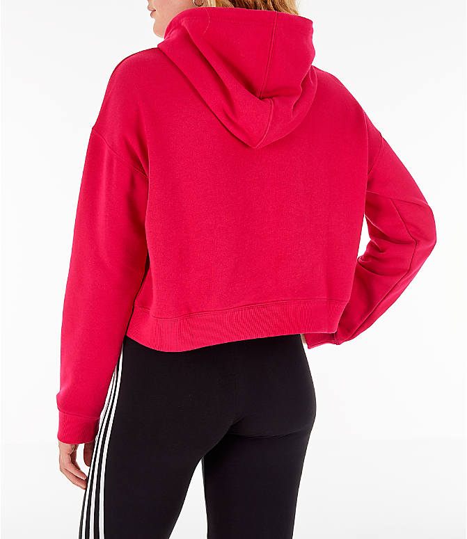Back Left view of Women's adidas Originals Leoflage Crop Hoodie