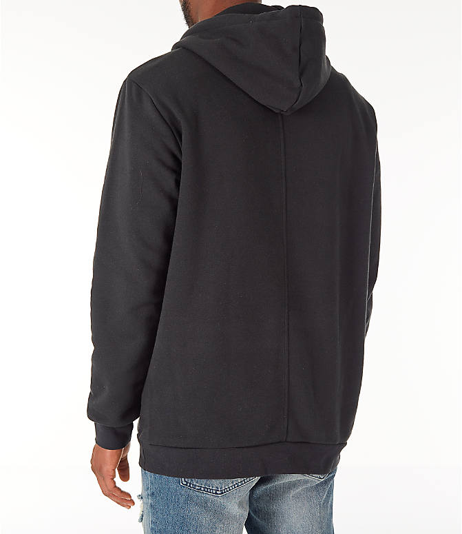 Back Left view of Men's adidas Originals Planetoid Hoodie in Black