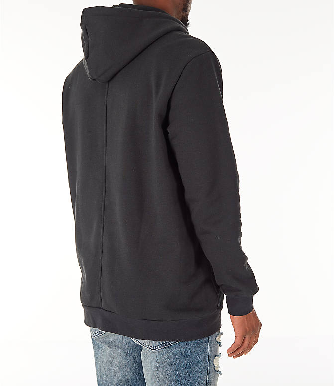 Back Right view of Men's adidas Originals Planetoid Hoodie in Black